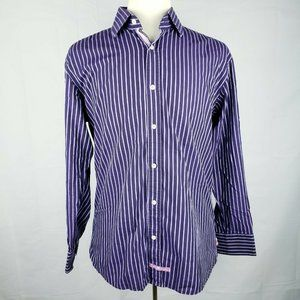 English Laundry Stripe Long Sleeve Dress Shirt